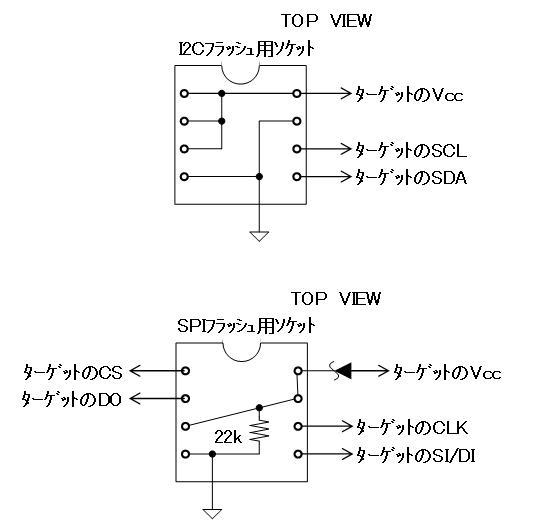 シリアルフラッシュROMライターの製作回路図2改