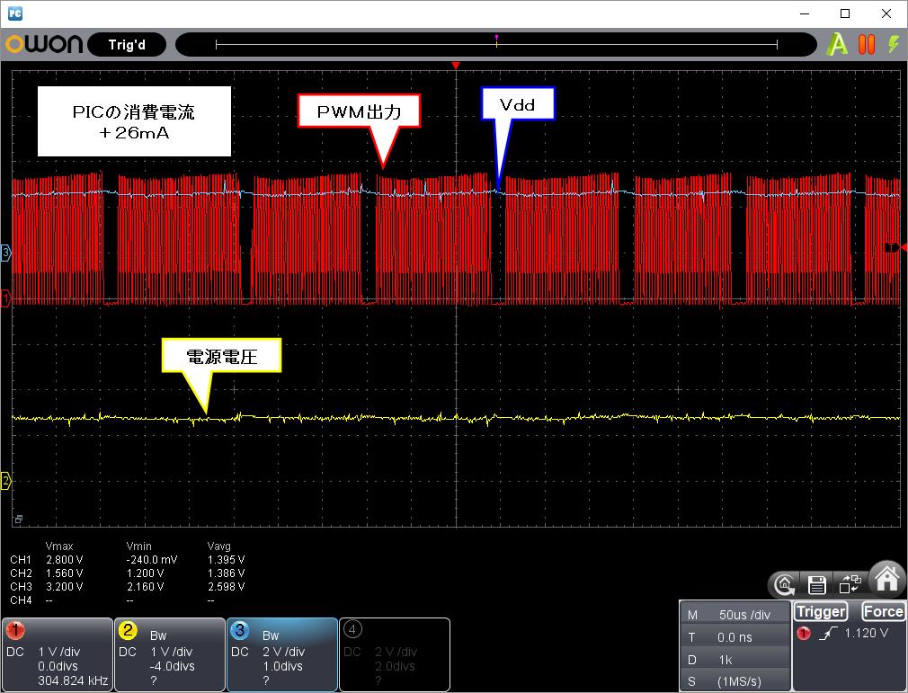 Vdd瞬低対策(昇圧式)波形26mA1.5V