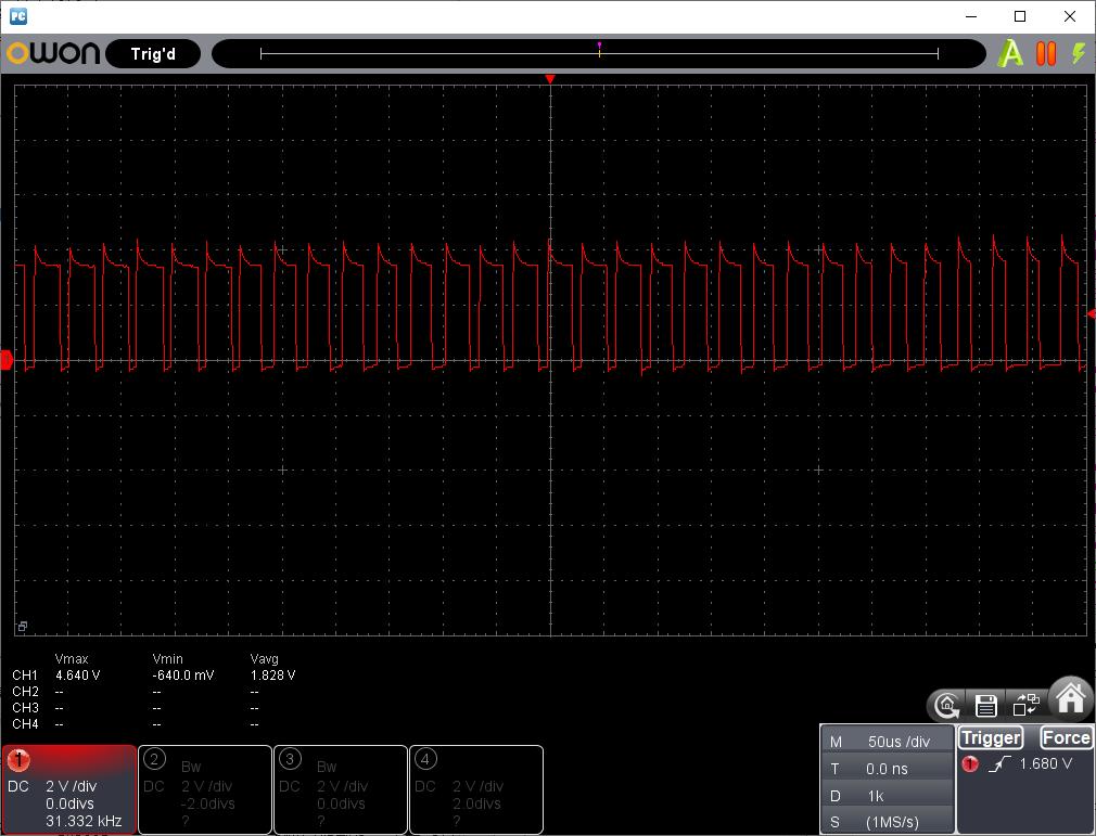 PIC電子オルゴールVer6_1の改善(ブリッジ出力)再挑戦シングル出力波形