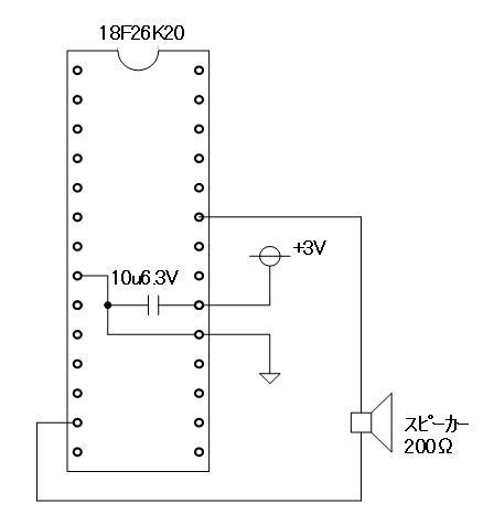 音声再生テストベンチPROG(回路図)