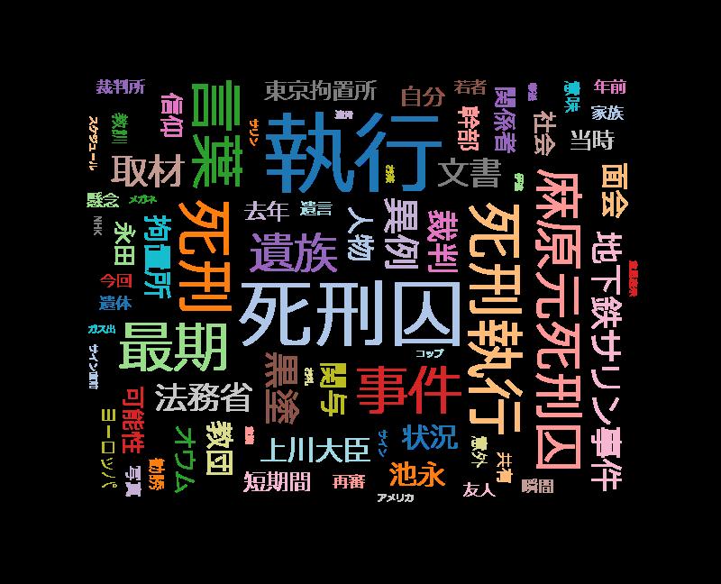 クローズアップ現代+「オウム死刑の舞台裏 取材1年・新事実が!執行時