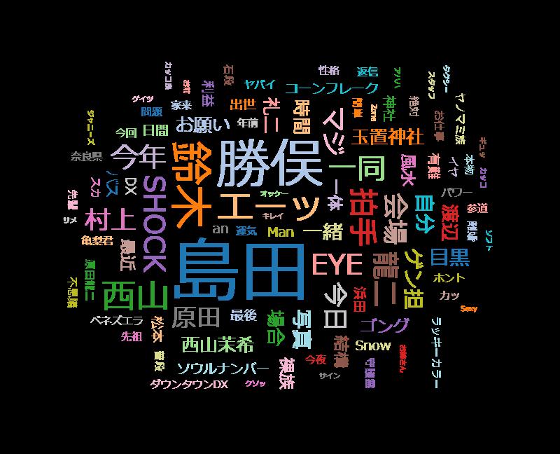 ダウンタウンDX 原田龍二みそぎ旅・ジャニーズのゲン担ぎ・西山茉希