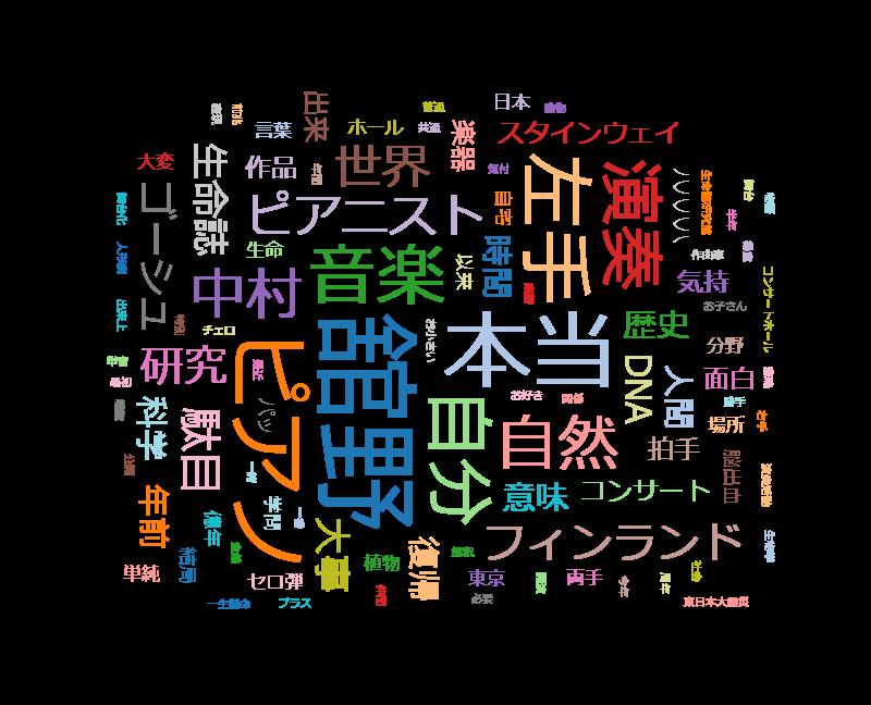 SWITCHインタビュー 達人達(たち)「舘野泉×中村桂子」