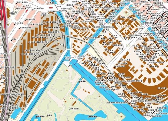 築地市場引込線MAP