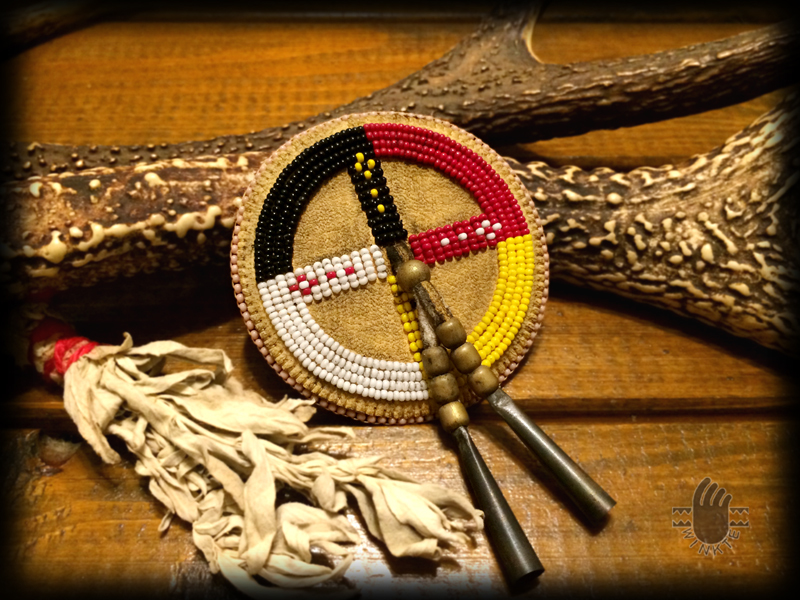Beaded Medicine Wheel Hat Pin 01 logo ver