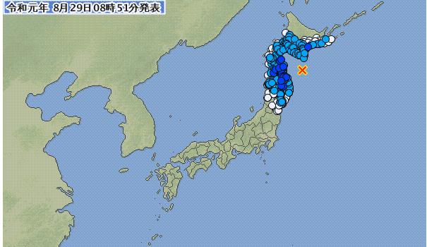 少し強め地震