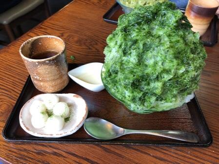 葉山のお茶屋さんのかき氷