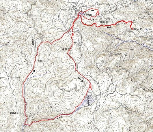 190625 入笠山軌跡