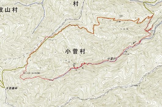 190705 小菅川軌跡