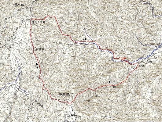 190805 鷹ノ巣山軌跡
