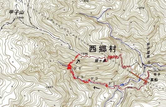 190918 甲子南沢軌跡