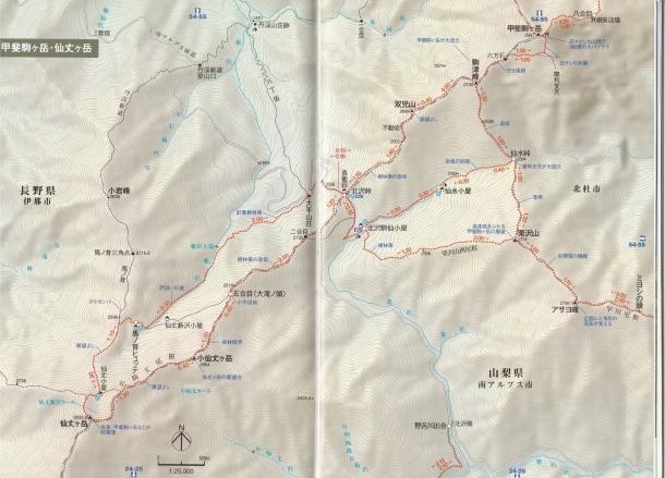 甲斐駒千丈MAP