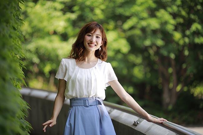彩音:青いスカート4