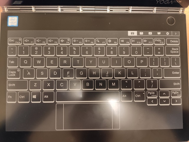 E-INK設定でUSキーボードに変更