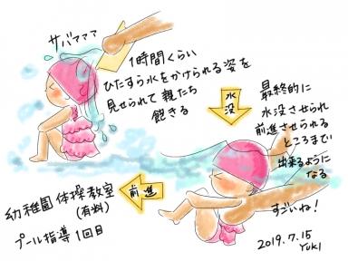幼稚園プール指導