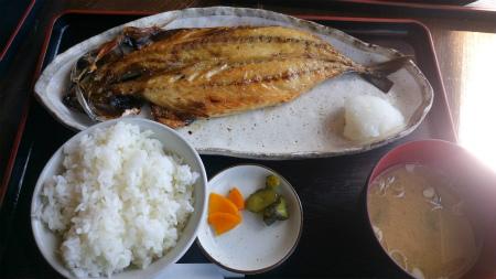 サバの干物の定食1