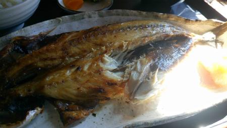 サバの開きの定食2