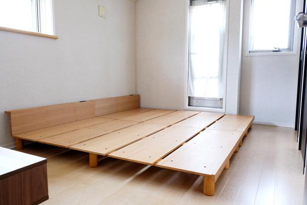 「ミューク」セミダブルベッド・寝室全体①