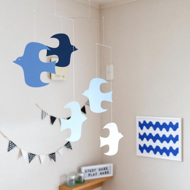 ハウスモビール・青い鳥のモビール・子供部屋②