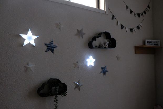 子供部屋・セリア・キャンドゥ・LEDキーマーライト・星①