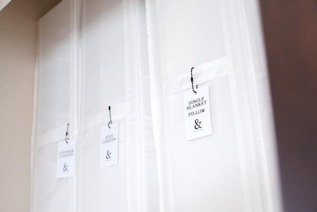 寝室・クローゼット大・最上段・IKEA・SKUBB収納ケース・キャンドゥ・LOVEHOME タグ 5P①