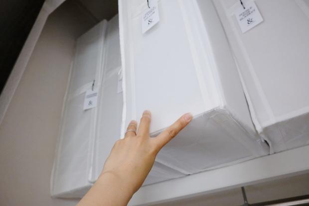 寝室・クローゼット大・最上段・IKEA・SKUBB収納ケース②
