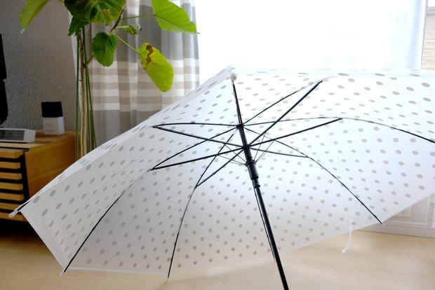 ダイソー・EVA傘 (ドット、60cm)③