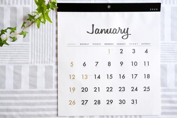 セリア・壁掛けカレンダー 正方形シンプル①