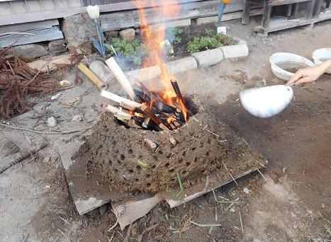 火をもして乾燥