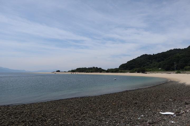 陸奥記念碑近くの海岸