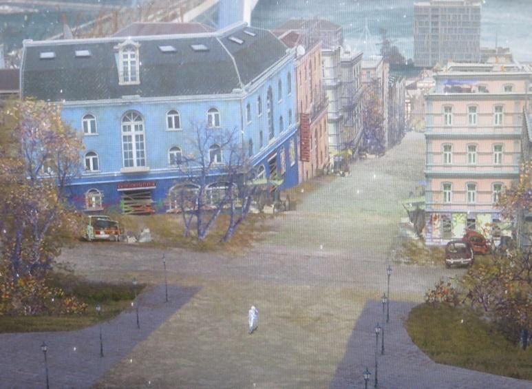 ウラジオストックの港を見下ろす