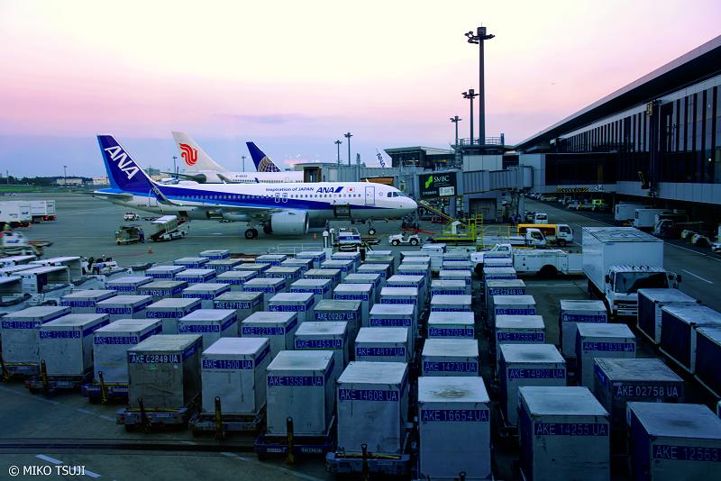 絶景探しの旅 - 1061 夕暮れの成田空港 第1ターミナル (千葉県 成田市)