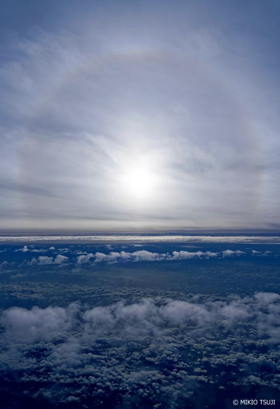 絶景探しの旅 - 1074 雲の上の日暈 (フィリピン上空)