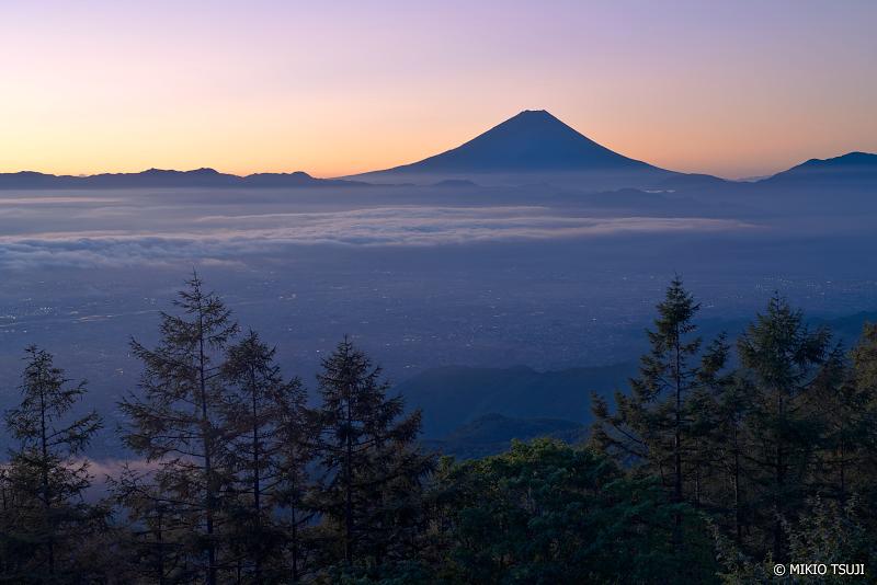 絶景探しの旅 - 1085 夜明けの富士山の風景 (甘利山/山梨県 韮崎市)