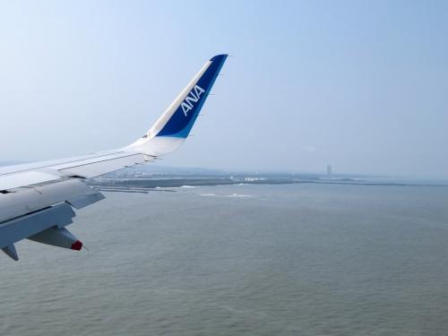宮崎空港着陸前
